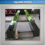 Black Square Flat Kerbs