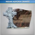 Indian Aurora Celtic Drift Headstone