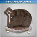 Indian Aurora Celtic Star Headstone