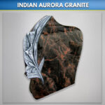 Indian Aurora Lilly Antiqued Headstone
