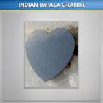 Indian Impala Granite Hearts