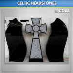 black celtic mist granite headstone