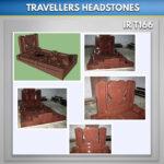 Red granite Travellers Headstone