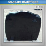 A25 Black Granite headstone