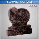 A3 Aurora Granite headstone