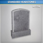 Punched Boulder Granite Headstone