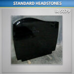 C 1 Black Granite Headstone
