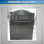 Black Roped Ogee Top Headstone