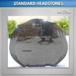 Double Flame Granite Headstone