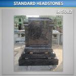 bahama blue scroll headstones