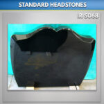 MG 97 Black granite headstone Ireland