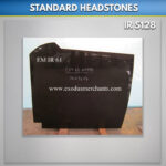 M 6 Black Granite Headstone