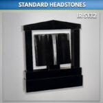 Ogee Book Granite Headstone Set