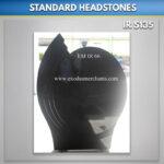 Polished Oval Steps Headstone
