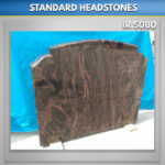 Wide RTFS headstone Aurora granite