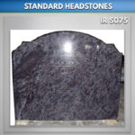 Wide RTFS headstone blue lagoon granite