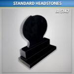 Rugby Ball Black headstone