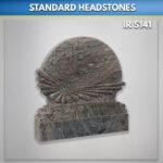 Sea shell paradiso granite headstone