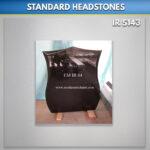 Polished Black Shield Headstone