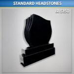Black Single Flame Granite Headstone