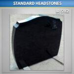 Black A 25 Granite headstone