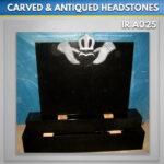 claddagh granite headstone