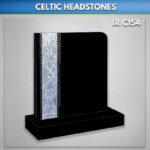 Black Celtic Book Headstone