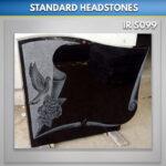 Black Dove Scroll Headstone