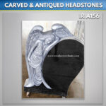 black Angel headstone Antique Finish