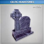 Blue Lagoon Boyne Celtic Cross headstone