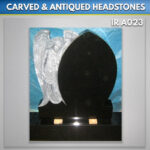 angel rose granite headstone Antiqued