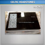 Celtic Book Headstone Carved and Antiqued