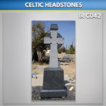Indian Impala Granite Celtic Cross Set Antiqued