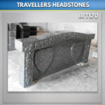 irish travellers grave blue pearl granite headstone