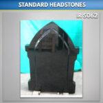 MG 83 Gothic Black granite headstone