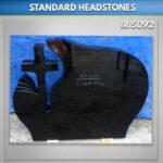 Flamed Cross Granite Headstone