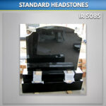 Black RTFS Granite Headstone Set