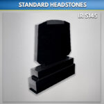Black TV Panel Granite Headstone