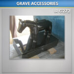 Granite Horse Statue with Stand