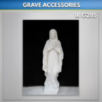 virgin mary statue for grave