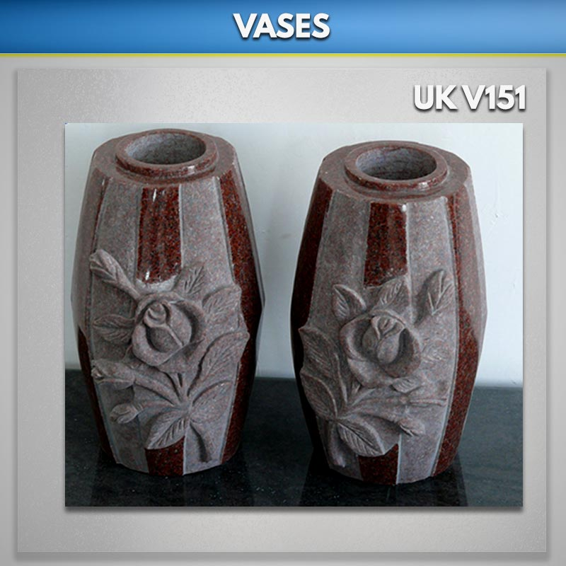 Granite Memorial Vases For Graves Uk